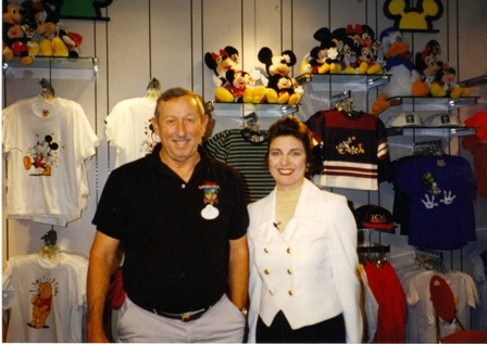 Westchester attorney Lisa Fantino and Roy Disney