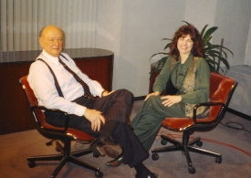Mayor Ed Koch and Lisa Fantino
